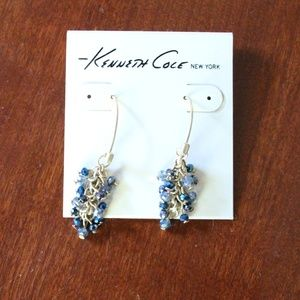 Kenneth Cole Cluster blue stone earrings